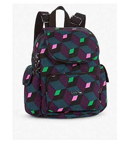 KIPLING City Pack mini water-resistant backpack (Bold+mirage
