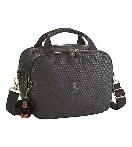 KIPLING Palmbeach shoulder bag (Black+scale+emb