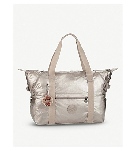 KIPLING Art nylon travel tote bag (Metallic+pewter