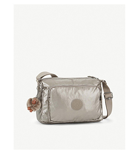 KIPLING Reth metallic cross-body bag (Metallic+pewter