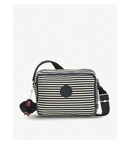 KIPLING Silen small woven shoulder bag (Marine+stripy