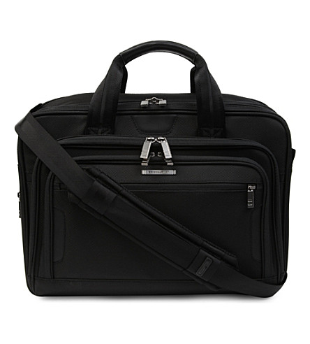 BRIGGS & RILEY @Work medium expandable laptop briefcase (Black