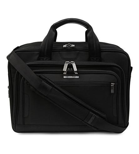 BRIGGS & RILEY @Work 中型可扩展笔记本电脑公文包 (黑色