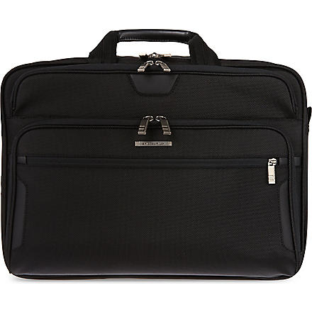 BRIGGS & RILEY Large expandable briefcase (Black