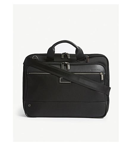 BRIGGS & RILEY @work Slim nylon briefcase (Black