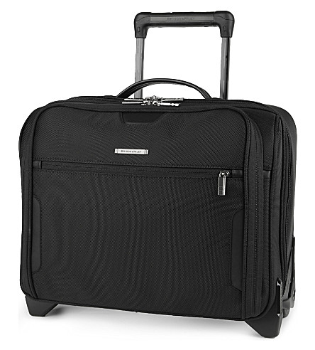 BRIGGS & RILEY @Work medium slim rolling briefcase (Black