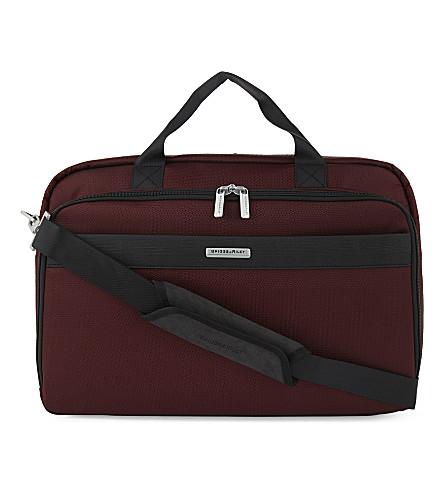 BRIGGS & RILEY Transcend clamshell briefcase (Merlot