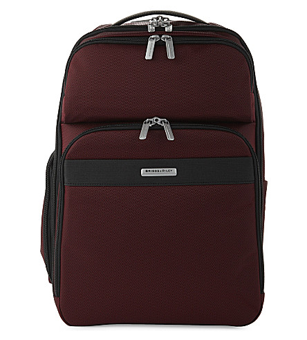 BRIGGS & RILEY Transcend cargo backpack (Merlot