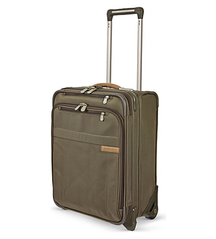 BRIGGS & RILEY Commuter expandable upright two-wheeled suitcase (Olive