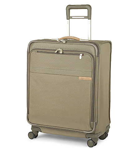 BRIGGS & RILEY Baseline medium expandable four-wheel suitcase 64cm (Olive