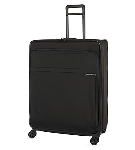 BRIGGS & RILEY Extra large expandable spinner suitcase trolley (Black