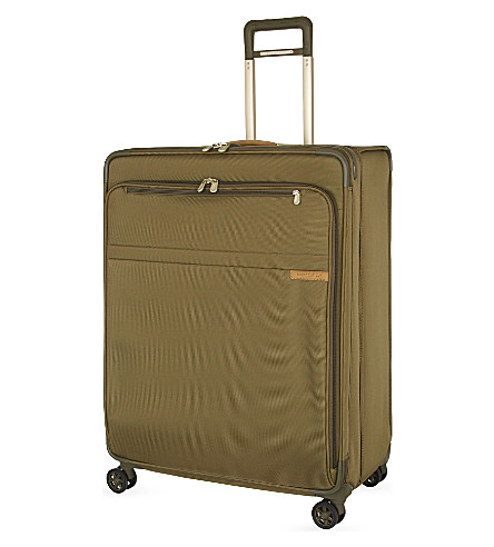 BRIGGS & RILEY Extra large expandable spinner suitcase trolley (Olive