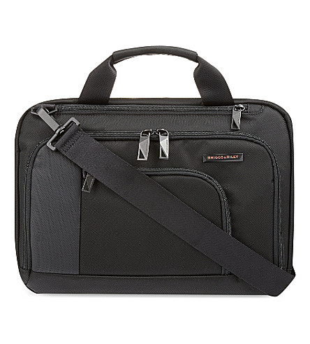 BRIGGS & RILEY Verb contact small briefcase (Black
