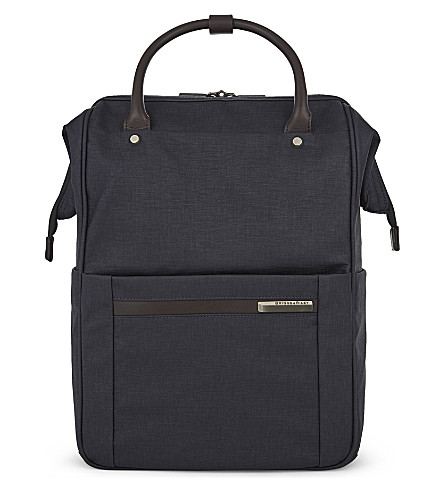 BRIGGS & RILEY Kinzie Street framed polyester backpack (Navy
