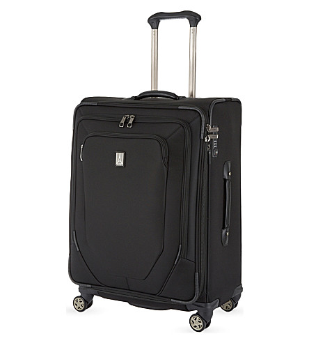 TRAVELPRO Crew 10 56cm expandable spinner suitcase (Black