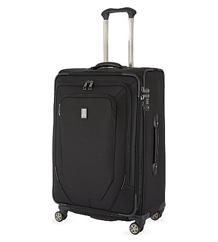 TRAVELPRO Crew 10 79cm expandable spinner suitcase (Black