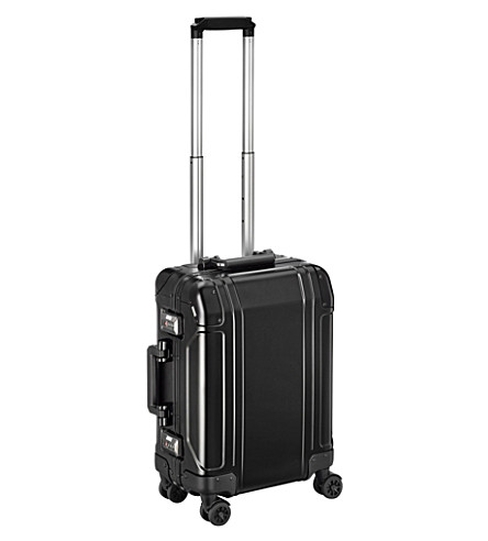 ZERO HALLIBURTON Geo Aluminium 2.0 Carry-on 4-Wheel Spinner Travel Case (Black