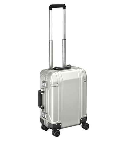 ZERO HALLIBURTON Geo Aluminium 2.0 Carry-on 4-Wheel Spinner Travel Case (Silver