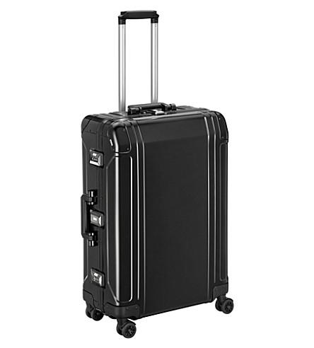 ZERO HALLIBURTON Geo Aluminum 2.0 4-Wheel Spinner Case (Black