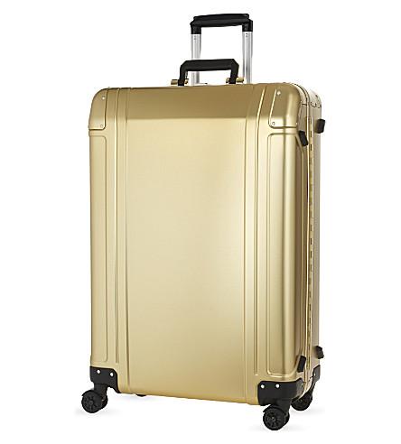 ZERO HALLIBURTON Aluminium four-wheel suitcase 73cm (Gold