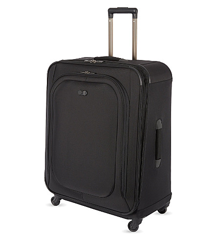 VICTORINOX Hybri-Lite expandable four-wheel spinner suitcase 69cm (Black