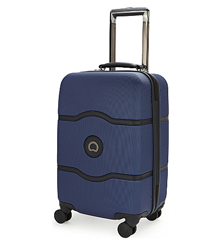 DELSEY Châtelet Hard + four-wheel cabin suitcase 55cm (Blue