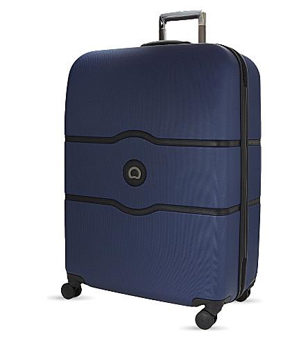 DELSEY Châtelet Hard + four-wheel suitcase 77cm (Blue