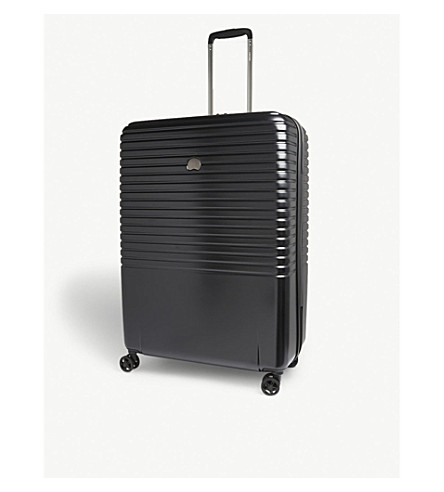 DELSEY Caumartin Plus four-wheel spinner suitcase 76cm (Black