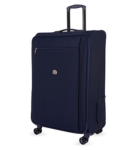 DELSEY Montmartre Pro four-wheel expanding suitcase 77cm (Blue