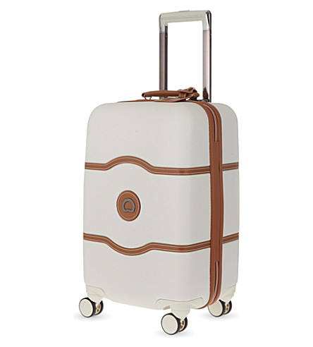 DELSEY Chatelet Hard + four-wheel cabin suitcase 55cm (Angora