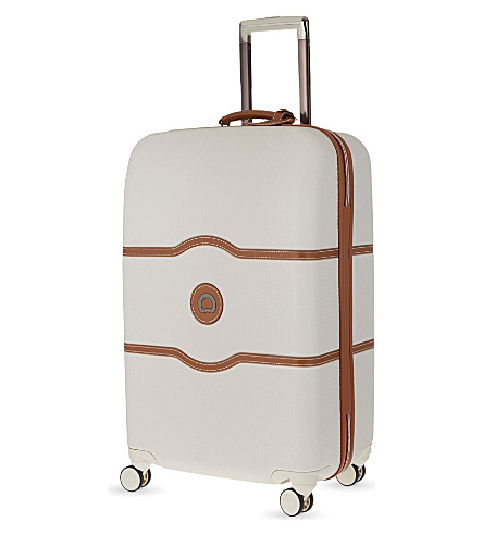 DELSEY Chatelet Hard + four-wheel suitcase 77cm (Angora