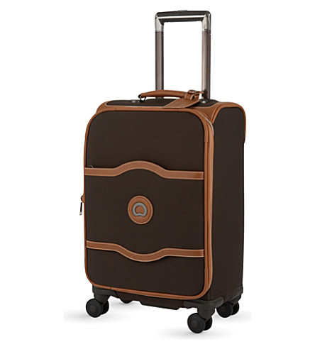 DELSEY Chatelet Soft + small spinner suitcase (Chocolate