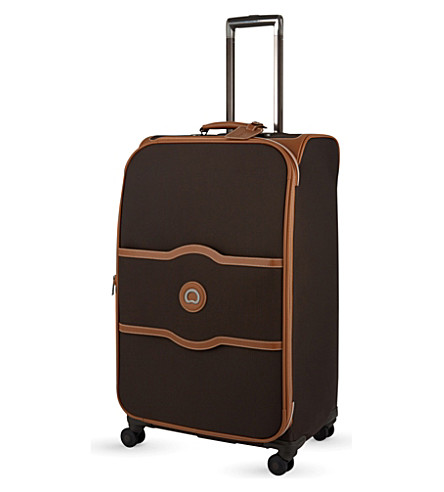 DELSEY Chatelet Soft + medium spinner suitcase (Chocolate