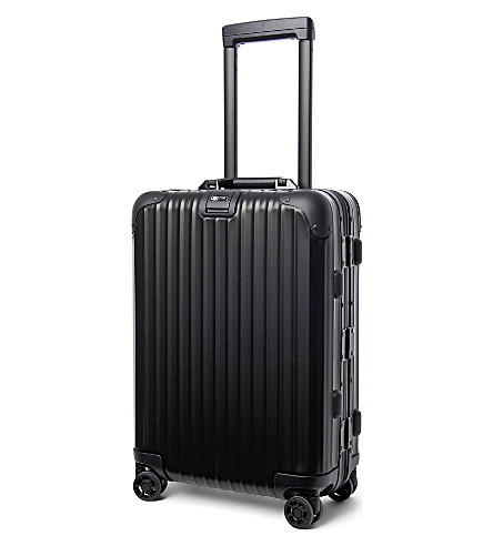 RIMOWA Topas Stealth IATA four-wheel cabin suitcase 55cm (Black