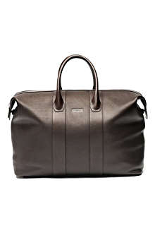DOM REILLY Leather weekender holdall
