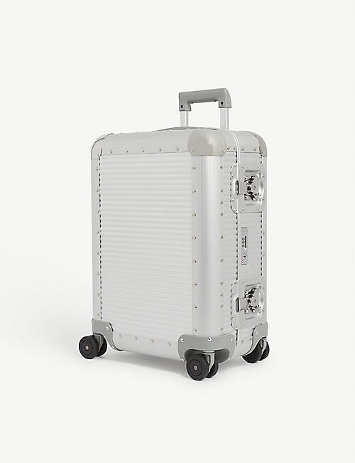 FPM - FABBRICA PELLETTERIE MILANO Bank S Spinner 55 aluminium suitcase