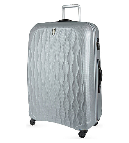 ANTLER Embossed Liquis large four-wheel spinner suitcase 83cm (Silver