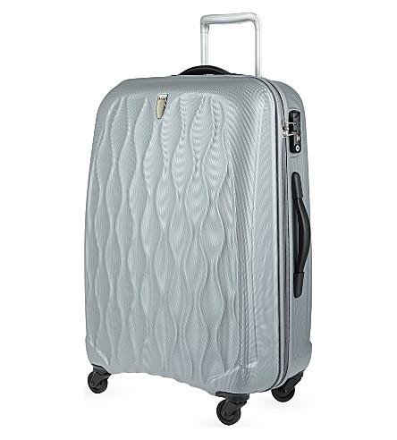 ANTLER Embossed Liquis medium four-wheel spinner suitcase 68cm (Silver