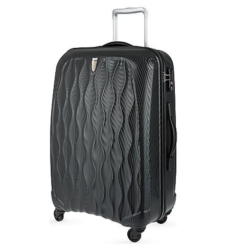 ANTLER Embossed Liquis medium four-wheel spinner suitcase 68cm (Black