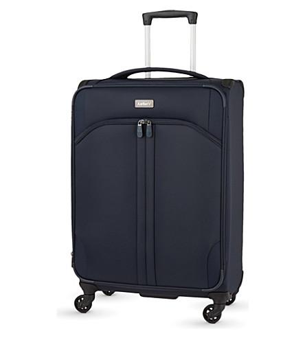 ANTLER Aire medium expanding four-wheel suitcase 68cm (Navy
