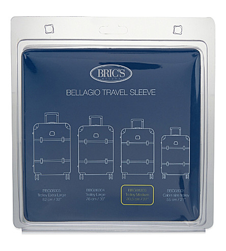BRICS Bellagio medium suitcase sleeve 70.5cm (Clear