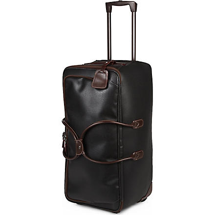 BRICS Magellano duffle trolley suitcase 72cm (Black/brown