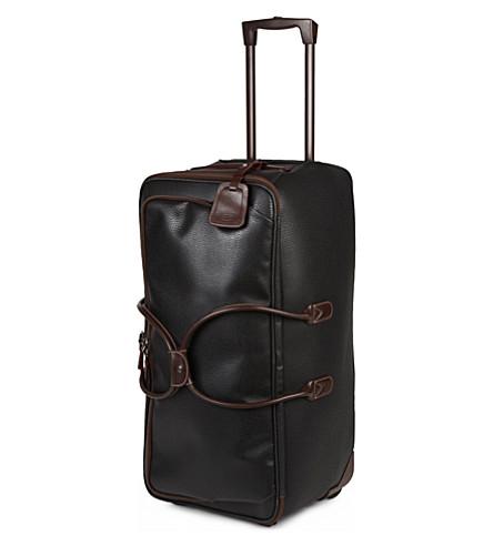 BRICS Magellano duffle trolley suitcase 72cm (Black/brown