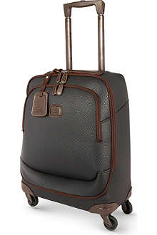 BRICS Magellano four-wheel leather suitcase