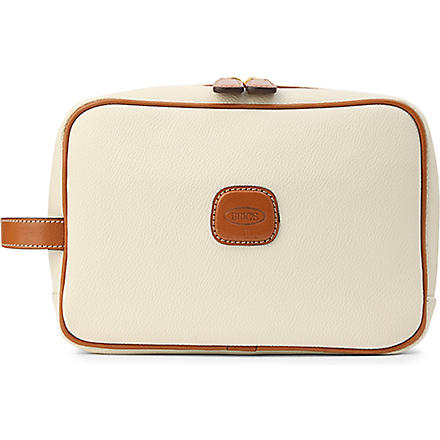 BRICS Bojola leather wash bag (Panna