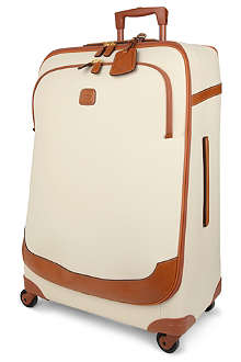 BRICS Bojola leather four-wheel suitcase 82cm
