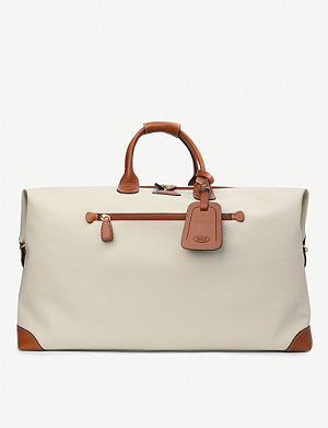 BRICS Bojola leather medium holdall