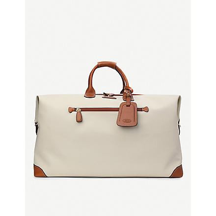 BRICS Bojola leather medium holdall (Panna