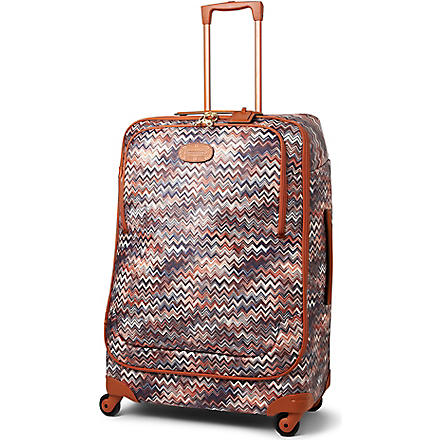 BRICS Missoni limited edition four-wheel suitcase 82cm (Tobacco