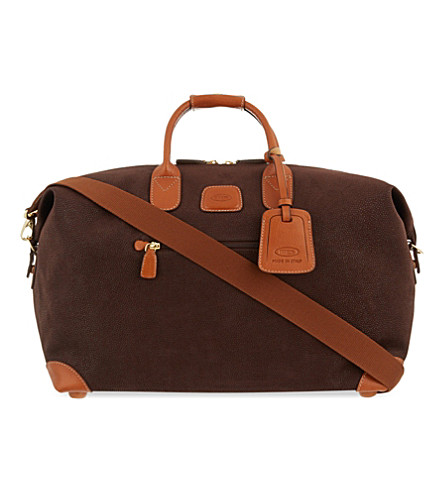 BRICS Life small holdall (Dark+brown
